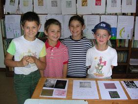 Les enfants présents ce jour-là à l'atelier
