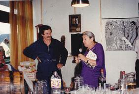 Louis Chabaud organisateur et Cérès Franco marraine du festival.