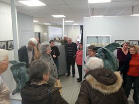 Visite des oeuvres