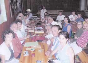 Dernière Assemblée générale du Bulletin, à Banne, au cours du festival 2003
