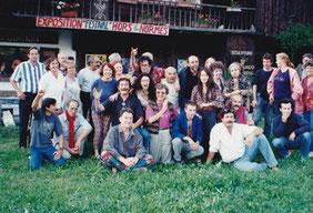 Les exposants, les organisateurs du festival, et les amis