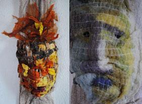 Deux masques de Valérie Métras