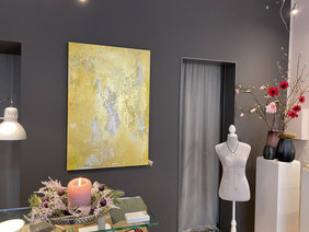 """Bild: Kunstdruck """"Frau mit Gold in den Händen"""", Helga Stein"""