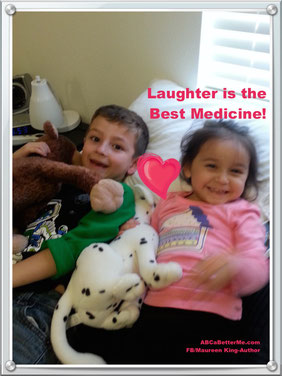 Kids smiling, Laughter is the best medicine, The simple act of smiling lowers stress hormones and makes you feel better, Smiles are contagious, why not share yours today, Maureen King,  ABCaBetterMe.com, Kids laughing