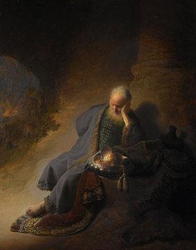 Jeremiah Laments the Destruction of Jerusalem, Rembrandt van Rijn, 1630 (Rijksmuseum, Amsterdam)