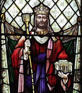 Одна из мозаик с изображением царя Соломона