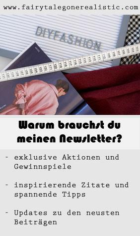 Newsletter Nähblog DIY Nähen Nähanleitungen