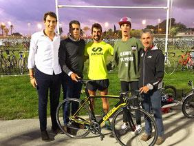 Amb Miguel Indurain i Martin Fiz