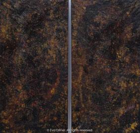Velvet Earth C396 C397 diptyk 2x67x130cm ©2016 Eva Dillner