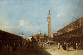 Francesco Guardi, Veduta di Piazza san Marco (foto lacarrara.it)