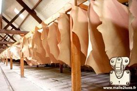 creation d'ecrin cuir veritable vachette