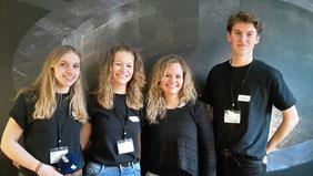 Anouk Bielders, Lena Münster (v.l.) und Robin Ringel (r.) bilden das Fernsehteam.