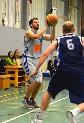 Christian Möller erzielte starke 36 Punkte für seine Mannschaft. (Foto: Fromme)