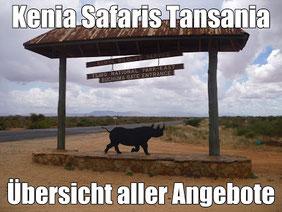 Kenia Safaris Rundreisen Tansania - Tierwelt hautnah erleben - schlafen in Camps und Lodges