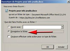 Enregistrer le fichier