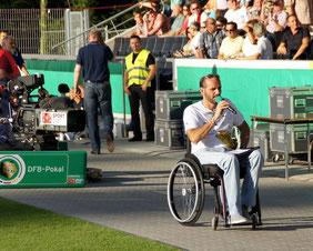 Einsatz im DFB-Pokal 2012, aber als Regionalligist gegen Zweitligist Frankfurt mit 1:2 knapp verloren...