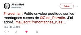 Avis de lectrice sur Twitter du livre numérique gratuit Les montagnes russes écrit par Cloé Perrotin illustré par Fanny Offre paru chez Majuscrit