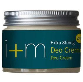 Deo Creme Extra Strong i+m Deo Creme sportlich-frisch 30 ml - Naturkosmetik ohne Alkohol, Aluminiumfrei, ohne Tierversuche, Vegan