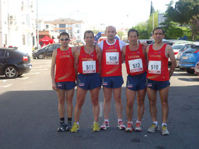 Atletas del club desplazados a Córdoba, al termino de la prueba.