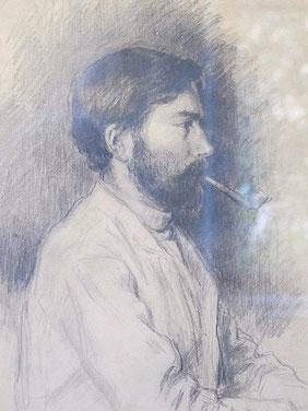 Autoportrait à la pipe, 1901.