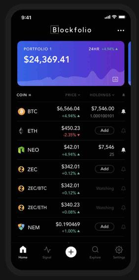 app blockfolio come funziona