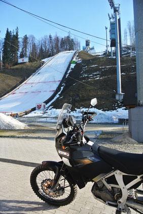 Die Weltcup-Skisprungschanze von Wisla