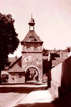 Tor in Sommerhausen 1961