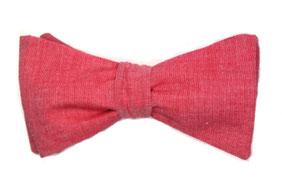 Fliege lachsfarben aus Leinen zum selberbinden - Leinenfliege für auf den Anzug