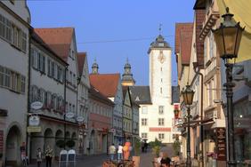 Blick auf die Burgstraße in Bad Mergentheim