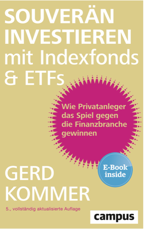 Buch, Cover, souverän investieren in Indexfonds & ETFs, Gerd Kommer