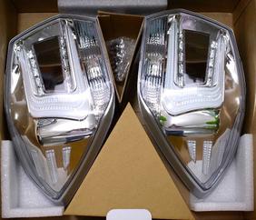 コーリン・シャレード LEDテールランプ ブラックホール クロームメッキ/クリアレンズ