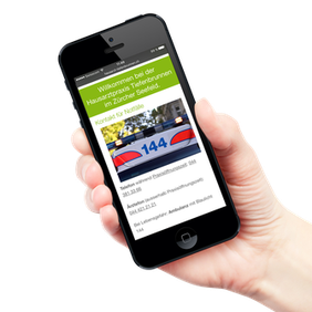 Responsive Layout auf einem Smartphone.