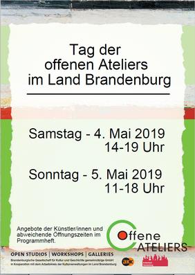 Tag der offenen Ateliers im Land Brandenburg 4./5. Mai 2019