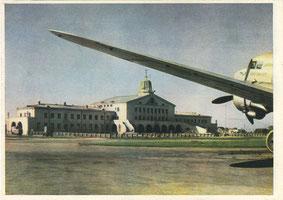 Vilniaus aerouostas. 1956m. Nuotr. I. Kacenbergo / Vilnius airport. 1956. Photo by I. Kacenberg.