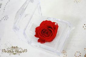 一輪の薔薇 スワロフスキー フラワーギフト プレゼント プリザーブドフラワー