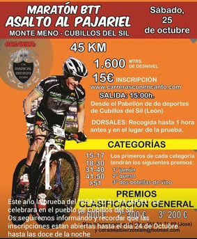 MARATON BTT ASALTO AL PAJARIEL - Cubillos del Sil, 25-10-2014