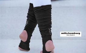 Beinstulpen schwarz