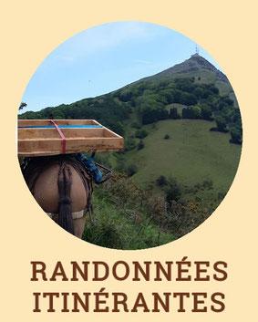 Randonnées itinérantes - Centre de Tourisme Equestre Larrun Alde