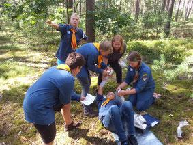 1. Hilfe - Wir proben den Ernstfall - Pfadfinder im Waldeinsatz