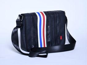 Stellvertretend für die Taschen aus Fahrradschlauch und anderen Materialien von Stef Fauser Design Berlin ist hier das Modell Fonda special zu sehen. Foto: Stef Fauser