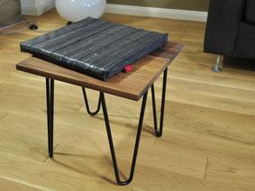 Kombimöbel Pinninger von Stef Fauser Design. Kann als Hocker oder Beistelltische genutzt werden