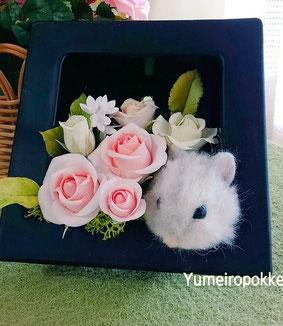 お花とコラボ