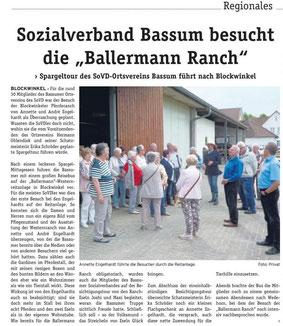 Annette Engelhardt mit Mitgliedern des SoVD Bassum (DIE WOCHENPOST)