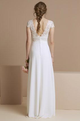 robe de mariée bohème fluide dos nu Yvelines 78