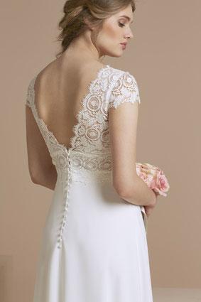 robe de mariée décolleté dos région parisienne 78