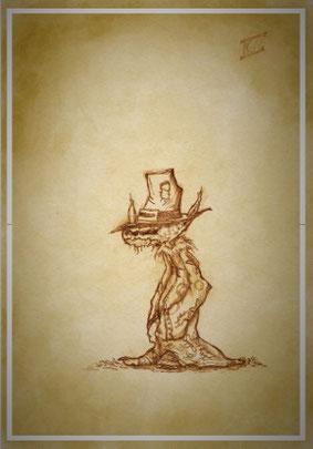 Gnom und Zauberer Xot'l, hilft Timber bei Ihrer Suche durch den Endzeitlosen, Koboltfeuer, Koboldfeuer, Fee, Fantasy, Elfe