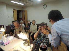 メガネのネジ点検や掛け具合の調整などのボランティアに行ってきました