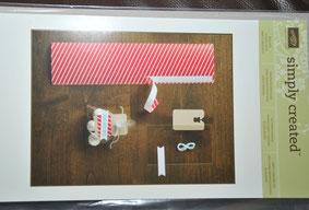"""ein Set """"Füe kleine Überraschungen"""" in rot, bestehend aus 10 Zelophantüten mit Anhängern, Fähnchen"""