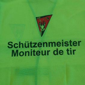 gedruckte Vereins logo auf warnweste zürich adliswil bei werbe-paradies.ch