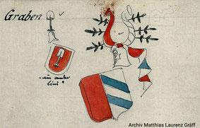 Wappen der Herren von Graben, Archiv Matthias Laurenz Gräff
